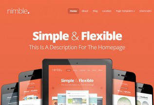 Nimble – WordPress Premium Responsive Theme