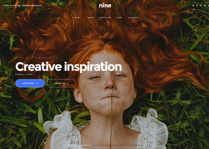 Nine – Premium Responsive Modern Muse Template