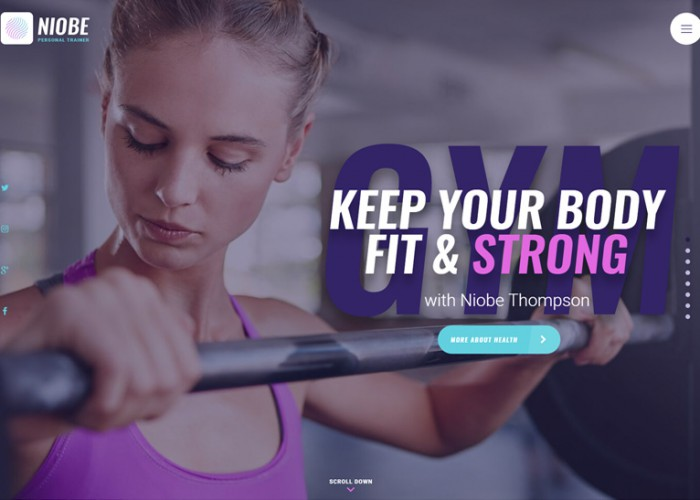 Niobe – Premium Resopnsive Gym Trainer WordPress Theme