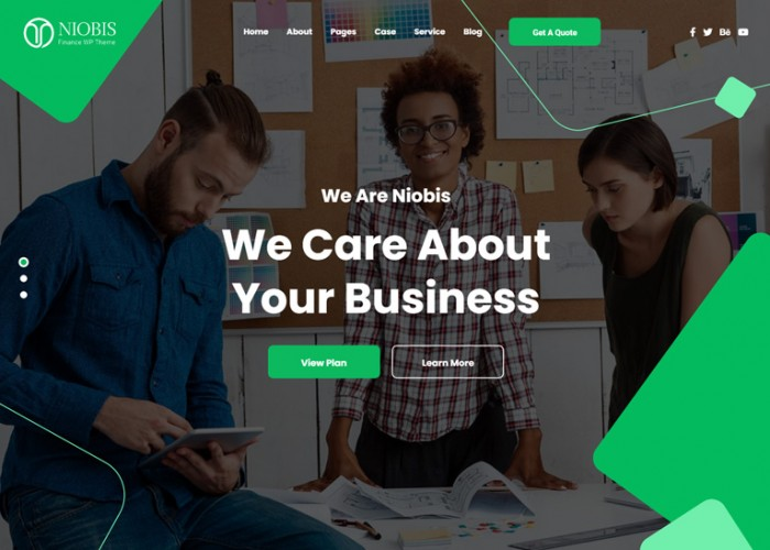 NioBis – Premium Responsive Business Consulting WordPress Theme