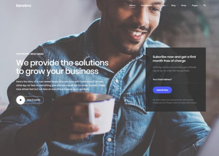 Norebro – Premium Responsive Creative Multipurpose WordPress Theme