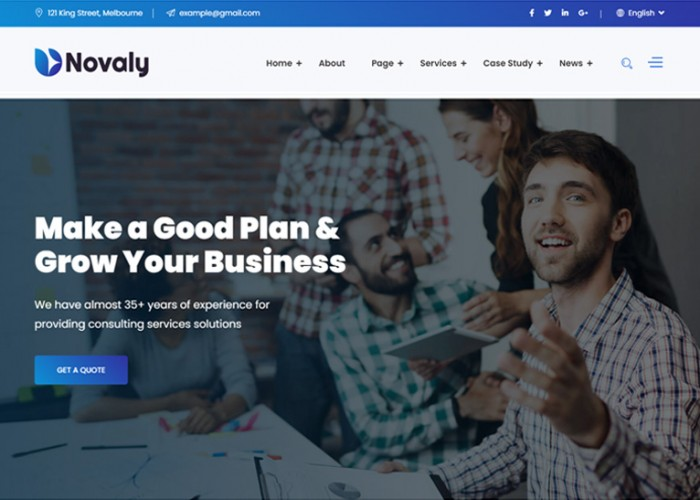 Novaly – Premium Responsive Business Consulting HTML5 Template