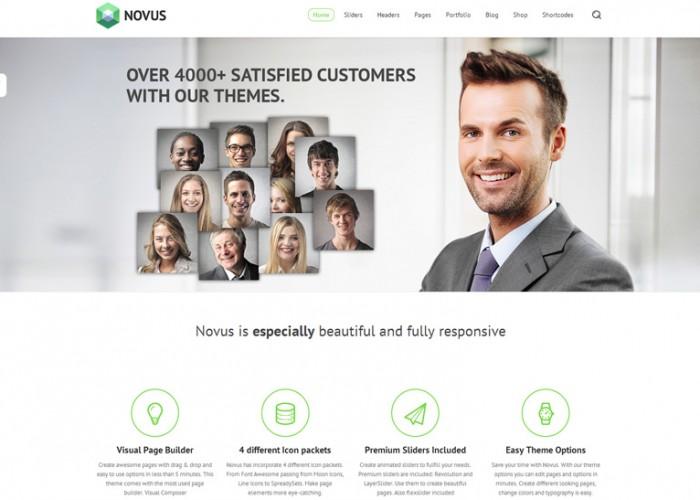 Novus – Premium Responsive Multipurpose WordPress Theme
