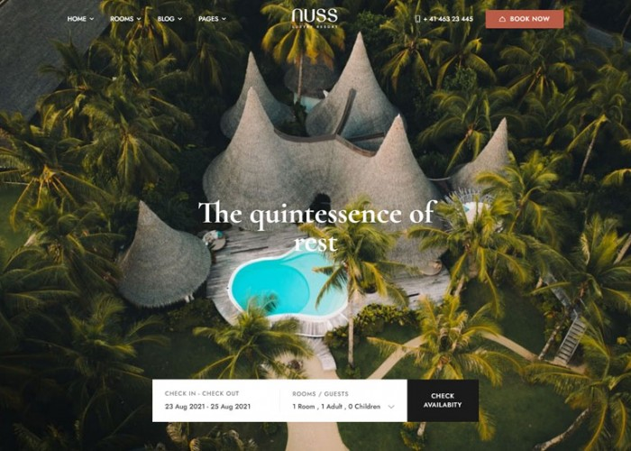 Nuss – Premium Responsive Hotel Booking WordPress Theme
