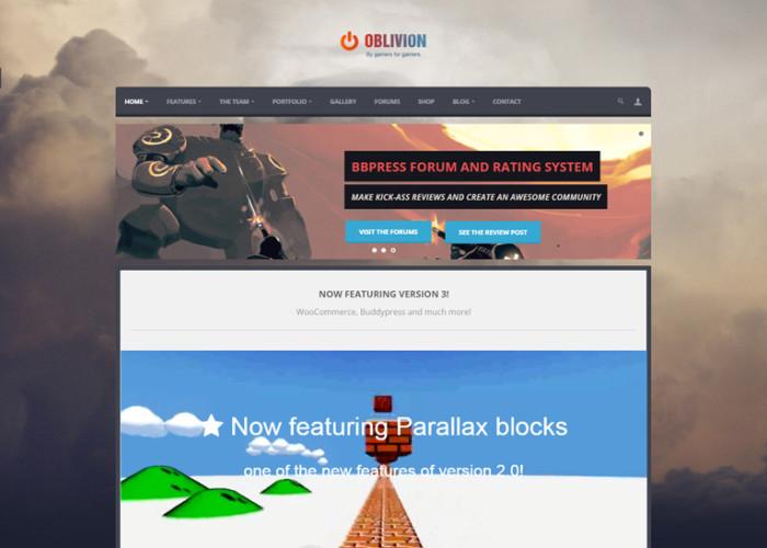 Oblivion – Premium Responsive MultiPurpose Gaming WordPress Theme