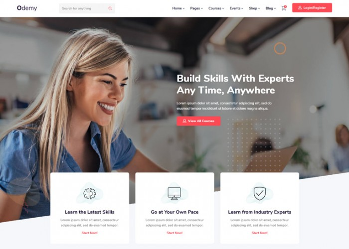 Odemy – Premium Responsive Angular 10 Education HTML5 Template