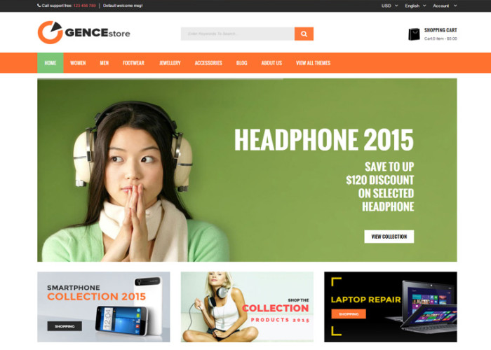 Ogence – Premium Responsive Multi Store Magento Theme