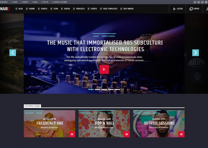 Onair2 – Premium Responsive Radio Station WordPress Theme