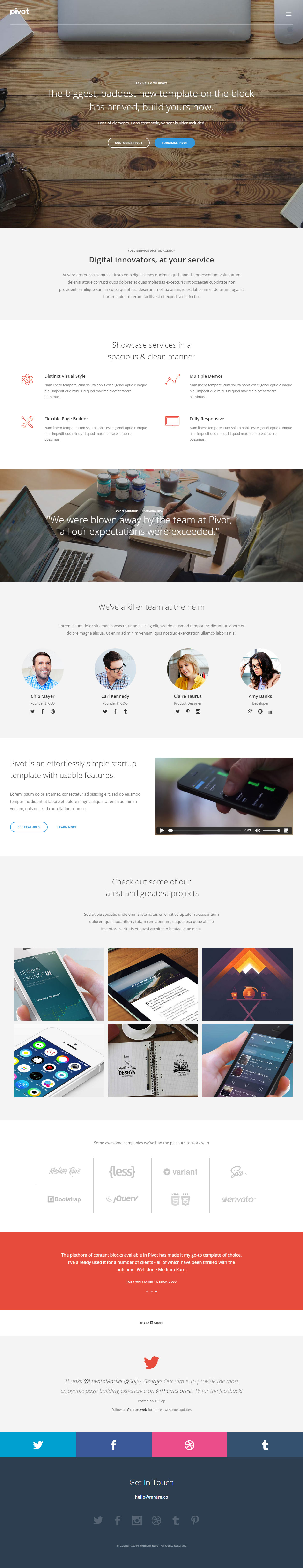 35  Best Html5 One Page Website Templates 2019