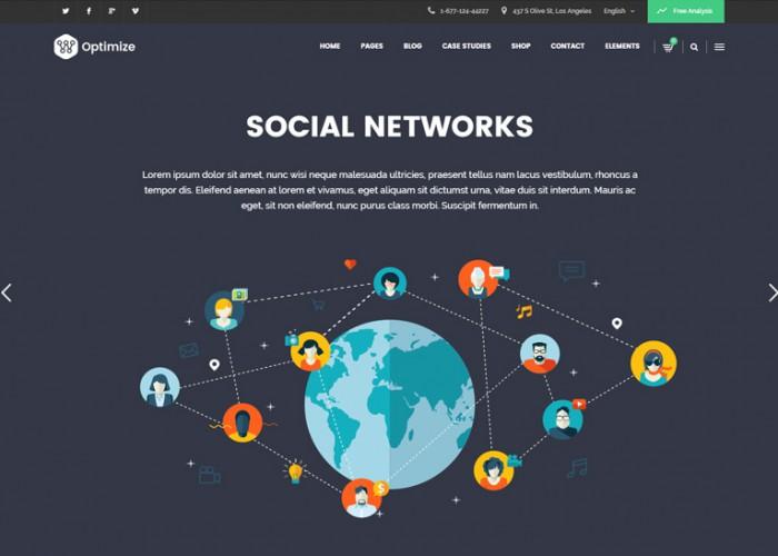 Optimize – Premium Responsive SEO, Digital Marketing, Social Media WordPress Theme