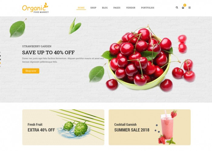 Organico – Premium Responsive Organic Food WordPress Theme