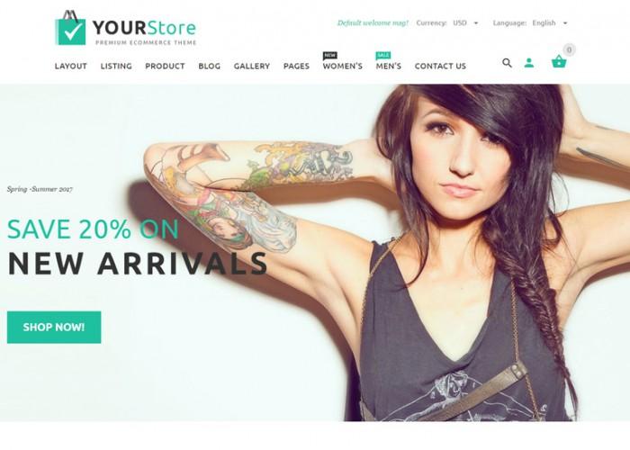 YourStore – Premium Responisve Woocommerce WordPress Theme