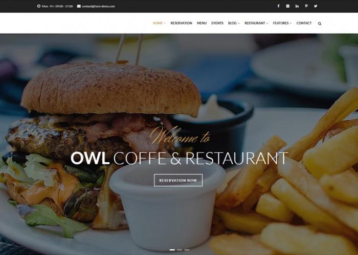 OWL – Premium Responsive Cafe & Restaurant Drupal 8.5 Template
