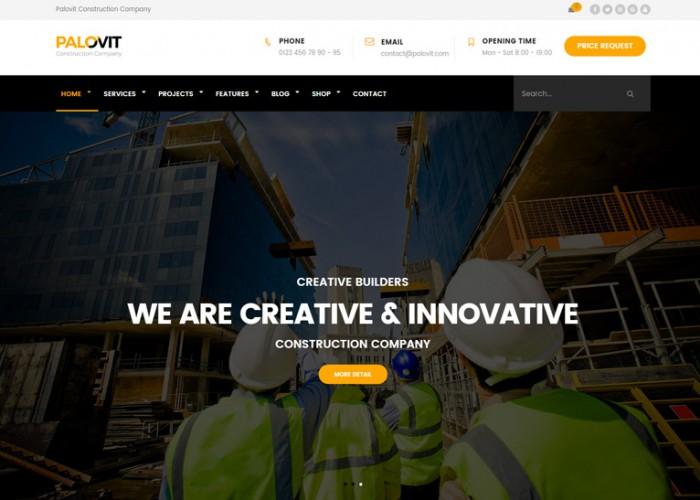 Palovit – Premium Responsive Construction WordPress Theme