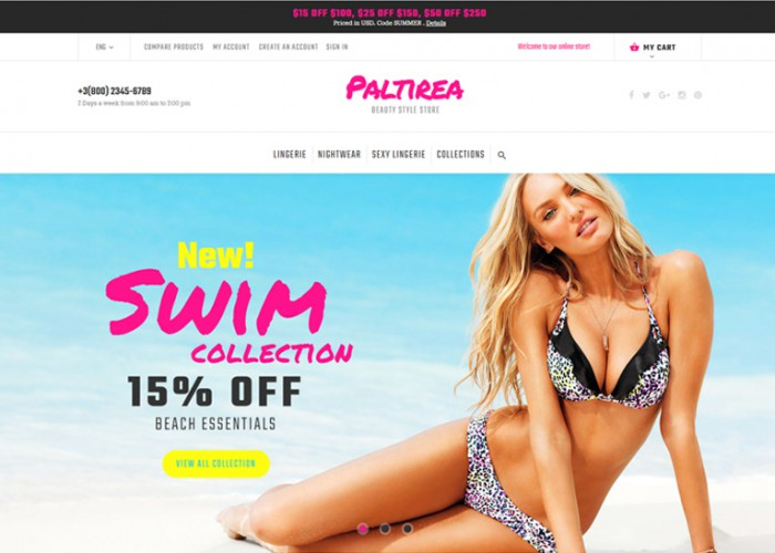Paltirea – Premium Responsive Lingerie Store Magento Theme