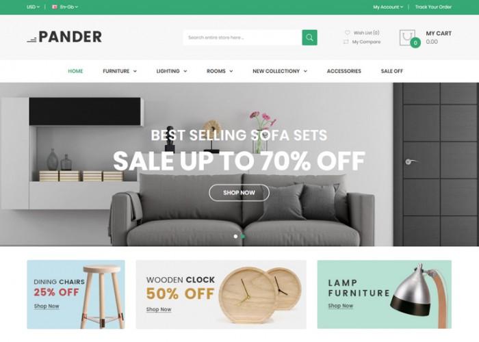 Pander – Premium Responsive Furniture OpenCart Theme