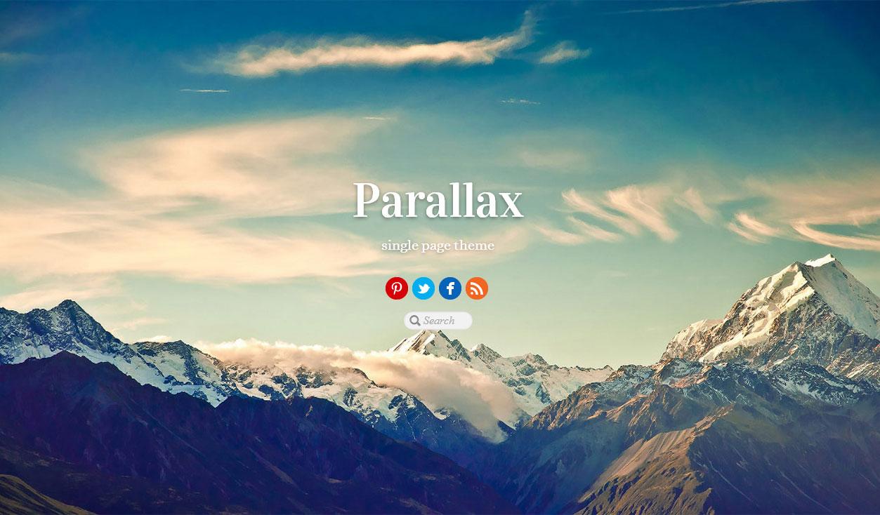 Parallax Responsive Single Page Wordpress Theme Themify Free Demo
