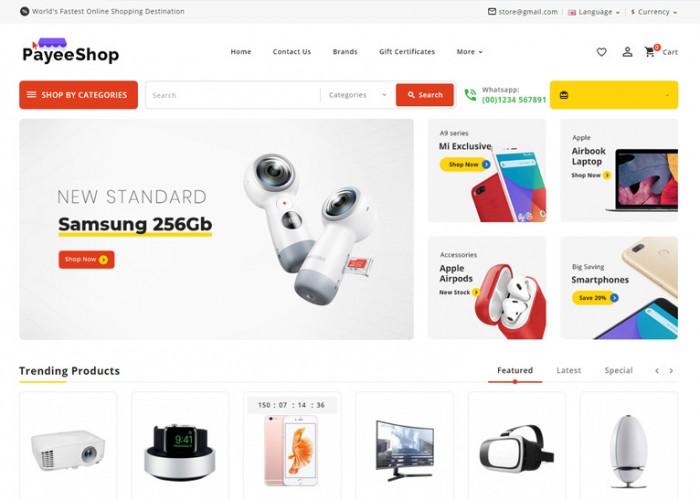 Payee Shop – Premium Responsive MultiPurpose OpenCart Theme