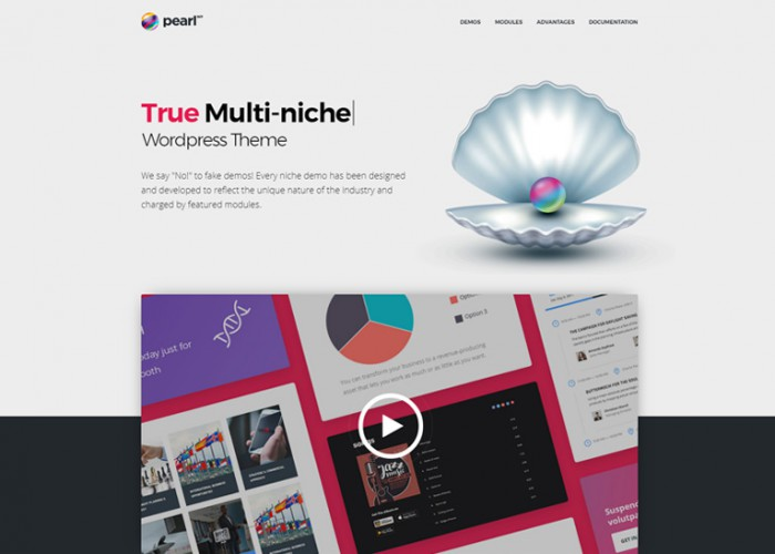 Pearl – Premium Responsive True Multi-niche WordPress Theme