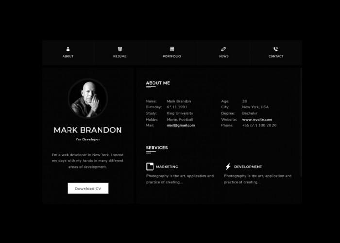 Perker – Premium Responsive CV Resume HTML5 Template