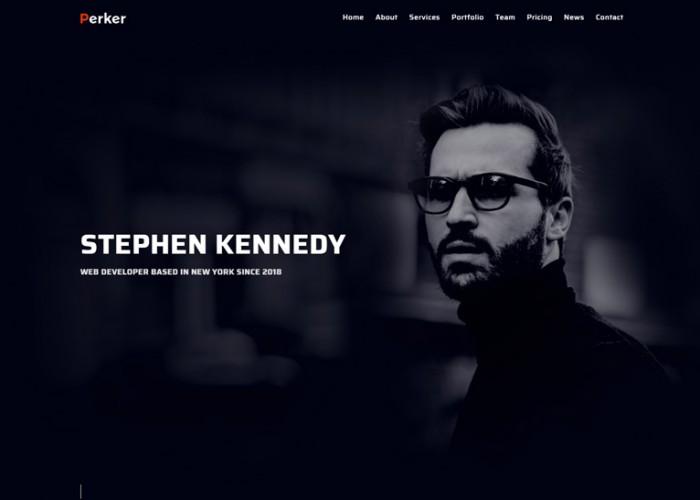 Perker – Premium Responsive Portfolio Resume HTML5 Template