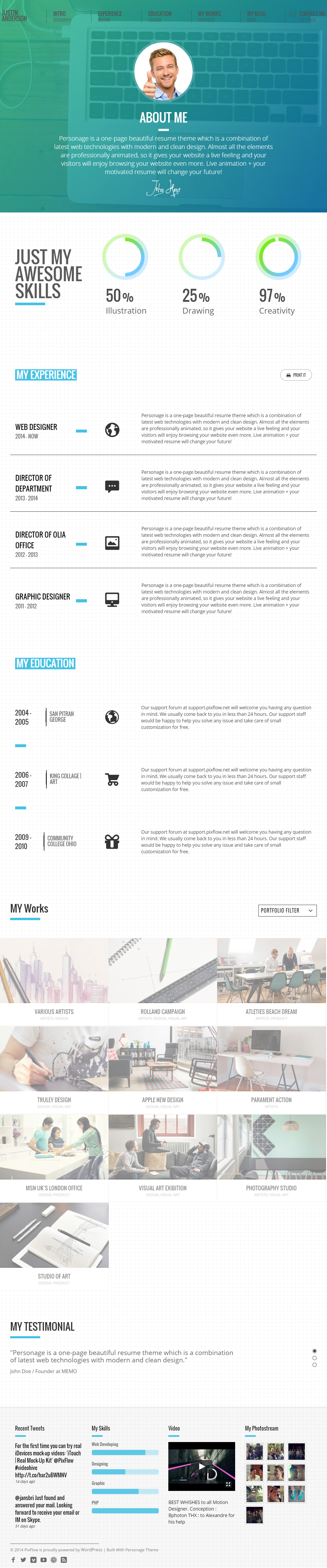 Resume Theme from www.responsivemiracle.com
