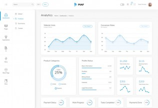 Piaf – Premium Responsive Vuejs Admin Dashboard HTML5 Template