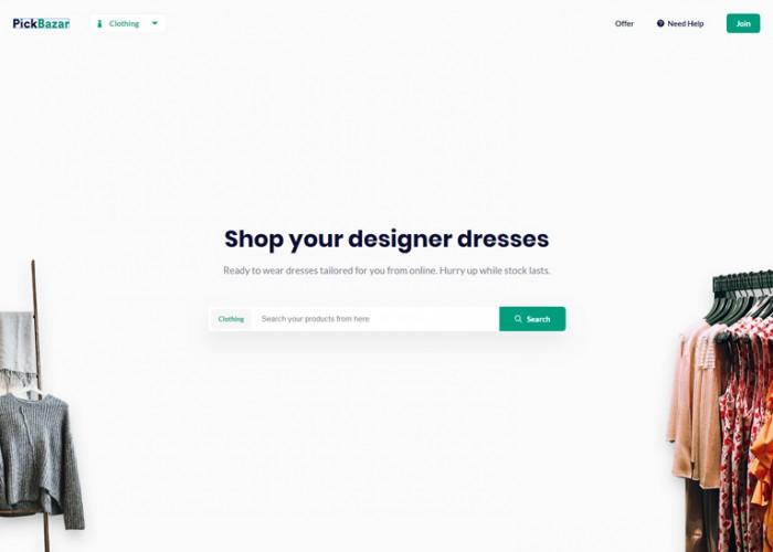Pickbazar – Premium Responsive React Ecommerce HTML5 Template