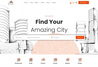 Pilar – Premium Responsive Angular 9 Directory Listing HTML5 Template