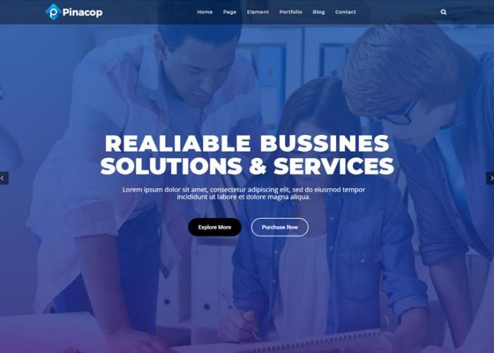 Pinacop – Premium Responsive Creative Multipurpose WordPress Theme