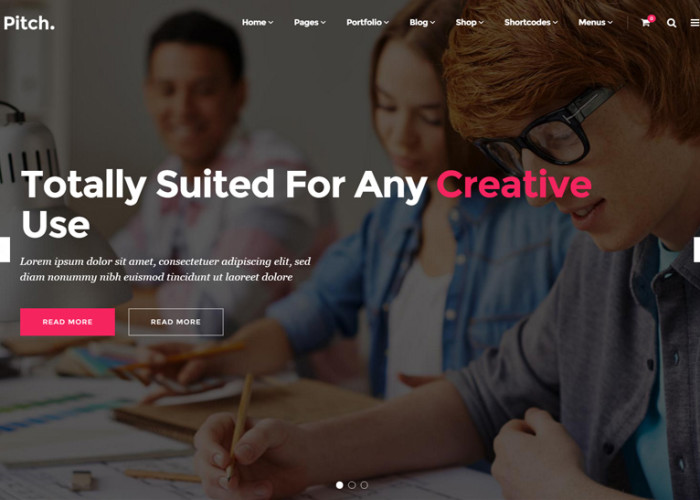 Pitch – Premium Responsive WordPress Theme for Freelancers and Agencies