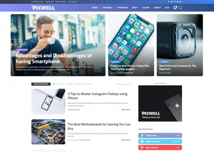 Pixwell – Premium Responsive Modern Magazine WordPress Theme