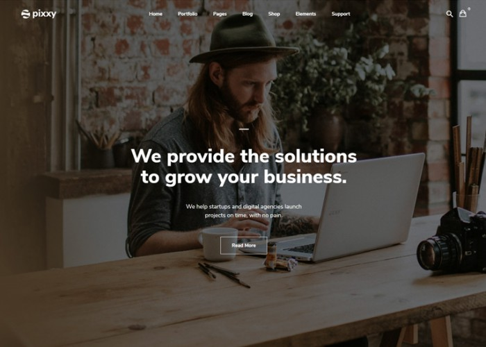 Pixxy – Premium Responsive Startup Business WordPress Theme
