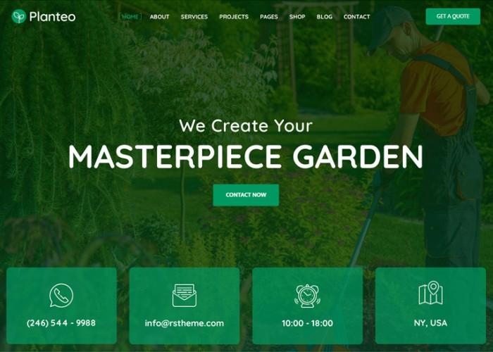 Planteo – Premium Responsive Gardening WordPress Theme