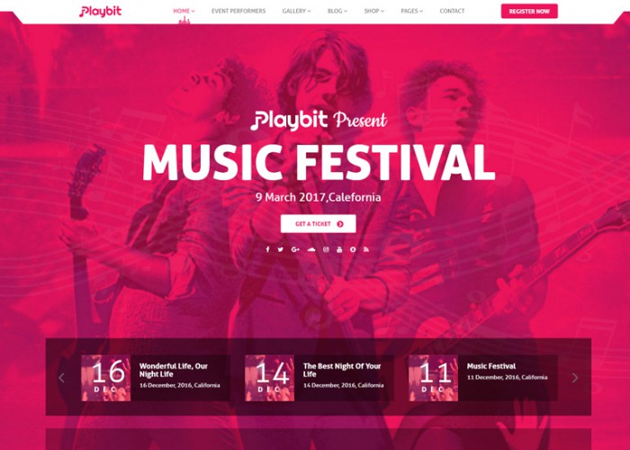 Playbit – Premium Responsive Music Oriented WordPress Theme