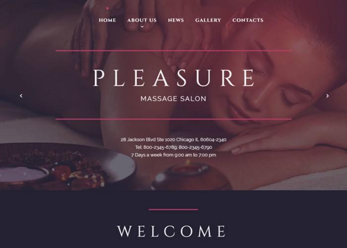 Pleasure – Premium Responsive Massage Salon HTML5 Template