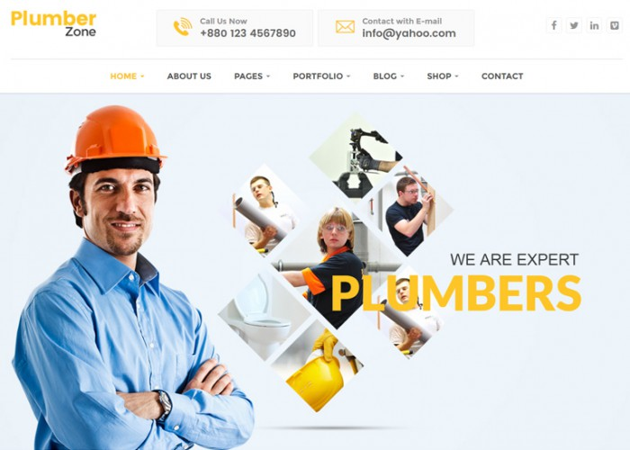 Plumber Zone – Premium Responsive Plumbing & Construction WordPress Theme