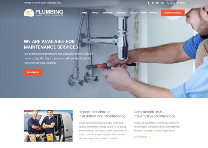 Plumbing – Premium Responsive Plumber HTML5 Template