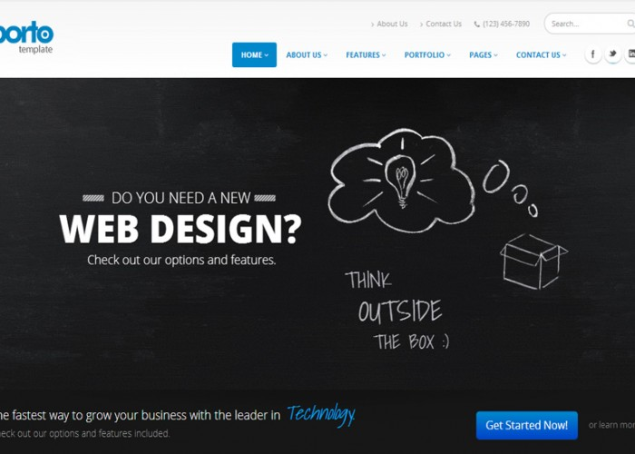 Porto – Premium Responsive Parallax Multipurpose HTML5 Template