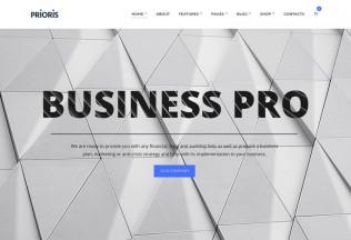 Prioris – Premium Responsive Consulting Agency WordPress Theme