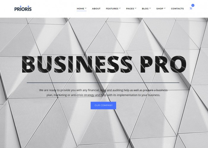 Prioris – Premium Responsive Consulting Agency WordPress Theme
