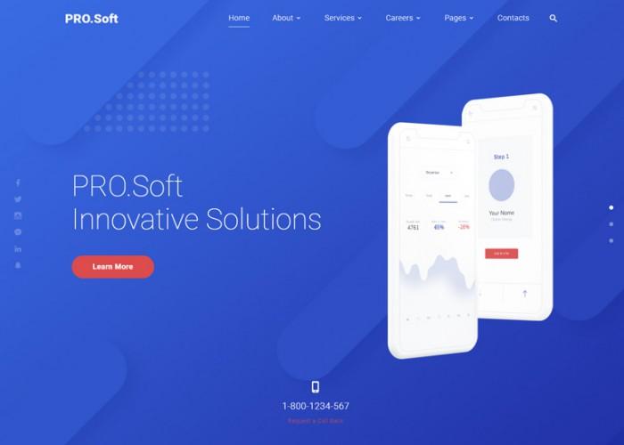 PRO.Soft – Premium Responsive Software Development HTML5 Template