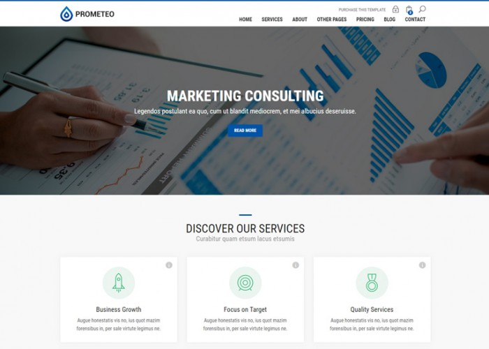 Prometeo – Premium Responsive Financial and Consulting HTML5 Template