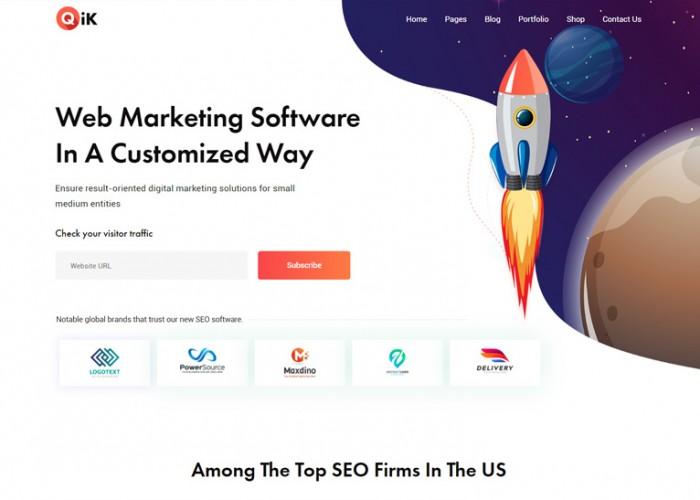 Qik – Premium Responsive SaaS Startup WordPress Theme