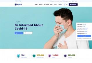 Qovid – Premium Responsive Angular 9 COVID-19 HTML5 Template