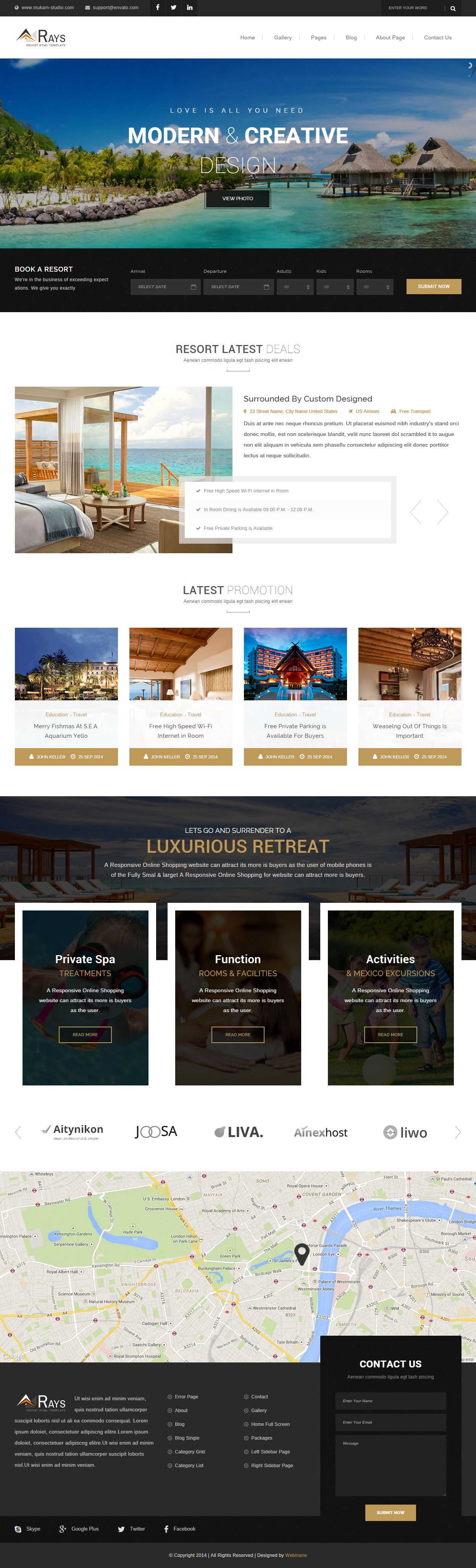 5 Best Responsive Html5 Templates For Resorts In 2015 Responsive
