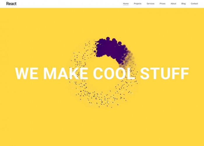 React – Premium Responsive Material Design Multipurpose WordPress Theme