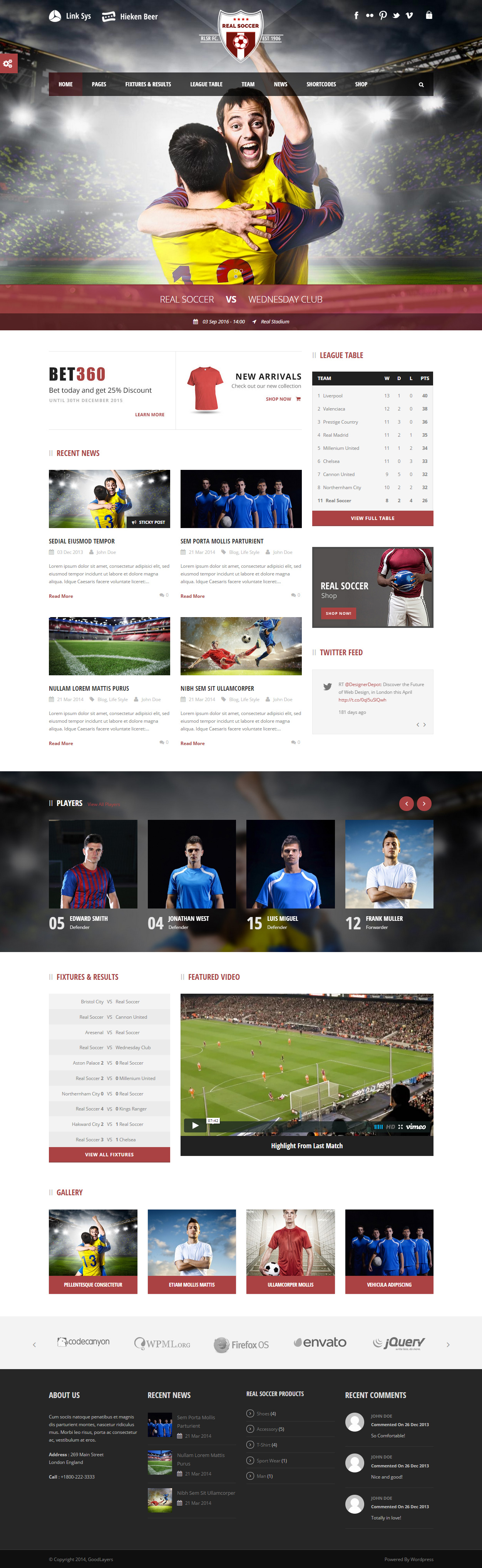 real soccer premium responsive sport clubs wordpress theme real soccer premium responsive sport
