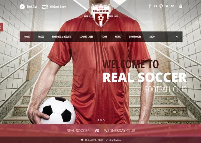 Real Soccer – Premium Responsive Sport Clubs WordPress Theme