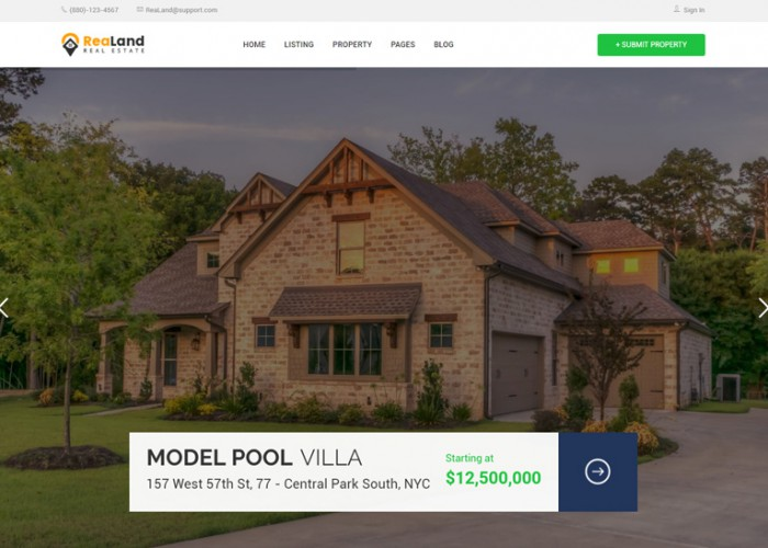 ReaLand – Premium Responsive Real Estate HTML5 Template